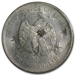1876-S Trade Dollar - Almost Uncirculated-58 Chop Marks PCGS