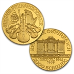 1989-2013 1 oz Gold Philharmonic Complete 25 Coin Collection
