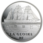 2013 5 oz Silver Proof Great French Ships - La Gloire