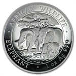 2013 1 oz Silver Somalian African Elephant (High Relief)
