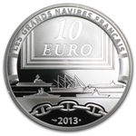 2013 10 Euro Silver Proof Great French Ships - La Gloire