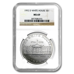 1992-D White House $1 Silver Commemorative - MS-69 NGC