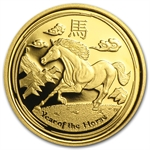 2014 1/10 oz Proof Gold Lunar Year of the Horse (SII)