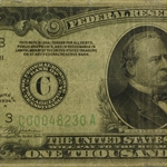 1934-A (C-Philadelphia) $1,000 FRN (Almost Good - Torn)