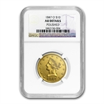 1847-O $10 Liberty Gold Eagle - AU Details - (Polished) NGC