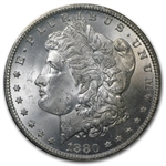 1880-CC Morgan Dollar MS-63 NGC - Blue Reverse - GSA Certified