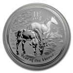 2014 1 Kilo Silver Australian Year of the Horse (SII)