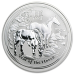 2014 10 oz Silver Australian Lunar Year of the Horse (SII) (3/14)
