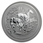 2014 5 oz Silver Australian Lunar Year of the Horse (SII)