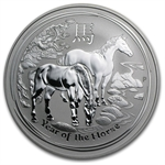 2014 1 oz Silver Australian Year of the Horse Coin (SII)