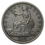 1877-S Trade Dollar - Extra Fine Details - Reverse Damaged