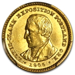 1905 $1.00 Gold Lewis & Clark Almost Uncirculated Details