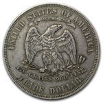 1877 Trade Dollar - Extra Fine Details - Light Graffiti