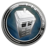 2013 1 oz Silver Niue $2 Doctor Who 50th Anniversary Coin