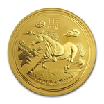 2014 1 oz Gold Lunar Year of the Horse (Series II)