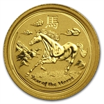 2014 1/20 oz Gold Lunar Year of the Horse (Series II)