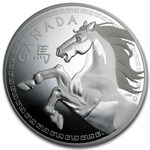 2014 1 Kilo Silver Canadian $250 Lunar - Year of the Horse
