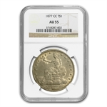 1877-CC Trade Dollar Almost Uncirculated-55 NGC