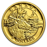 2013 1/10 oz Gold Canadian $5 - The Caribou