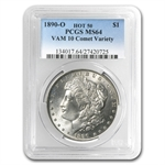 1890-O Morgan Dollar MS-64 PCGS VAM-10 Comet Variety Hot-50