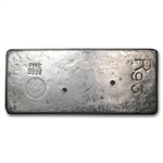 91.30 oz 1980 New York Assay Office Ingot Silver Bar 999.75 Fine