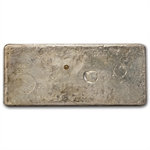 100 oz 1980 New York Assay Office Ingot Silver Bar 999.75 Fine