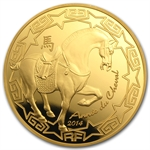 2014 1 oz Gold Proof Year of the Horse (200 Euro) - Lunar Series