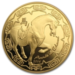 2014 1/4 oz Gold Proof Year of the Horse (50 Euro) - Lunar Series