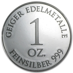 1 oz Geiger 'Security Line' Silver Round .999 Fine