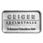 5 gram Geiger 'Security Line' Silver Bar .999 Fine
