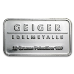 20 gram Geiger 'Security Line' Silver Bar .999 Fine