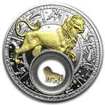 Belarus 2013 Silver Proof 20 Rubles Zodiac Signs - Leo