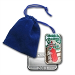 2013 1oz Sled Enameled Silver Bar (w/Pouch & Cap)