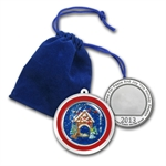 2013 1oz Nativity Enameled Silver Round (w/Pouch & Cap)
