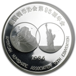 1986 - (5 oz) Silver Panda Proof - 95th ANA PF-65 UCAM NGC