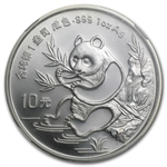 1991 1 oz Silver Chinese Panda - MS-66 NGC - Large Date