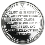 1 oz Serenity Prayer Silver Round (w/ Red Pouch & Cap)