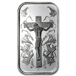 1 oz Jesus Silver Bar (w/ Green Pouch)
