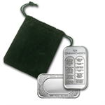 1 oz Ten Commandment Silver Bar (w/ Green Pouch & Cap)