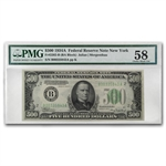 1934-A (B-New York) $500 FRN ChAU-58 PMG