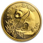 1993 (1/20 oz) Gold Chinese Pandas - Small Date (Sealed)