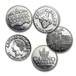 0.60 oz Silver Gaming/Casino Token Knockouts .999 Fine