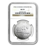 1994-W Women in Military $1 Silver Commemorative - MS-70 NGC