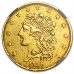 1835 $5 Gold Classic Head Half Eagle - AU Details NGC - (Cleaned)