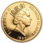 Solomon Islands 1992 $100 Gold Proof Battle of Guadalcanal