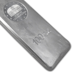 100 oz Geiger 'Security Line' Silver Bar .999 Fine