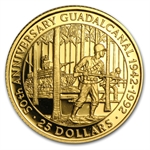 Solomon Islands 1992 $25 Gold Proof Battle of Guadalcanal