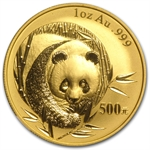 2003 1 oz Gold Chinese Panda MS-69 NGC Mirrored Bamboo