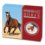 2014 1/2 oz Silver Year of the Horse Colorized Proof Coin