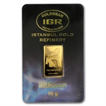 10 gram Istanbul Gold Refinery Bar - Trojan Horse (In Assay)